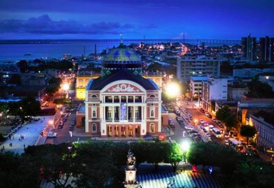 Operahuset Teatro Amazonas i Manaus