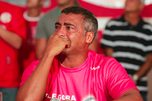Romário, som annars profilerar sig som en Bad boy, är en av de män som gråter mest i Brasilien.