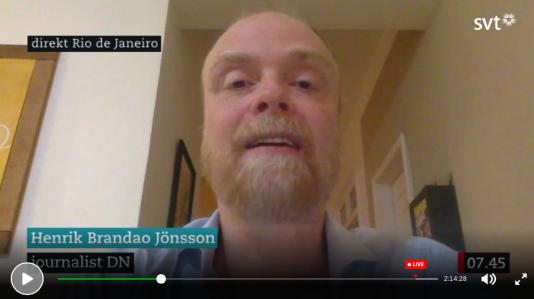 På Skype med Gomorron' Sverige