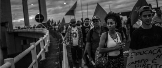 Demonstration i Porto Alegre inför Lulas dom i hovrätten.