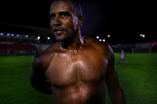 Nacionals anfallare Leo Paraiba efter semifinalen