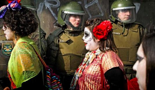 Protest i Santiago mot den urvattnade utbildningsreformen