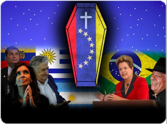 Efter att Chávez dog började vänstervågen rinna ut i Sydamerika