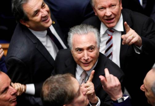 Michel Temer och hans kompisar i senaten.