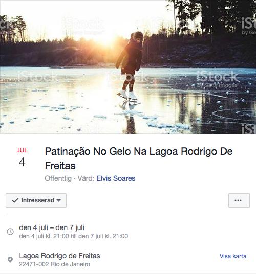 Inbjudan om att åka skridsko på lagunen som aldrig blir kallare än 20 grader