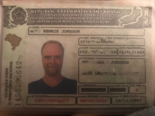 Mitt brasilianska körkort