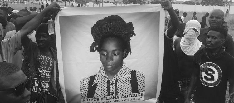 Juliana Cafriques begravning i Luanda