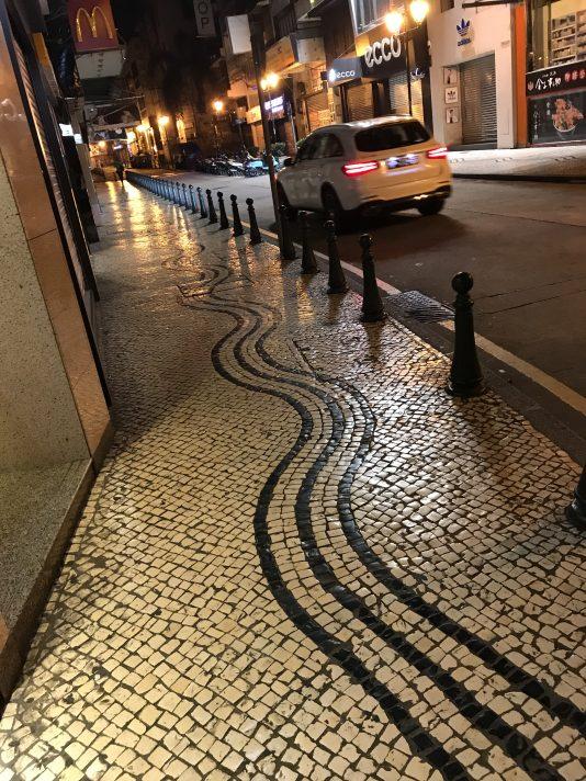 Portugisiska trottoarer.