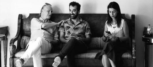 Jag, författaren Hugo Gonçalves och redaktören Eurídice Gomes